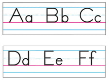 Basic Alphabet (Zaner-Bloser Manuscript) Bulletin Board Set