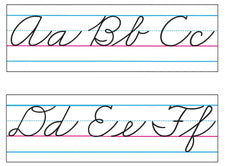 Basic Alphabet (Zaner-Bloser Cursive) Bulletin Board Set