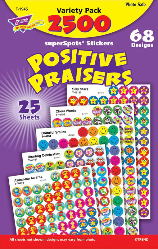 Positive Praisers superSpots® Stickers Variety Pack