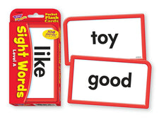 Sight Words–Level A Pocket Flash Cards