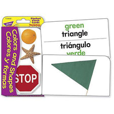 Colors & Shapes/Colores y formas (ENG/SP) Pocket Flash Cards