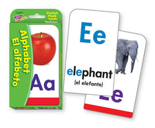 Alphabet/El Alfabeto (ENG/SP) Pocket Flash Cards