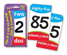 Numbers/Números del 0 al 100 (ENG/SP) Pocket Flash Cards