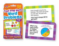 Word Problems Test Prep Math, Grades 1-3 Challenge Cards®