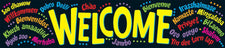 Welcome (Multilingual) Quotable Expressions® Banner–5 Feet