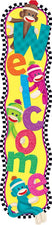 Welcome (Sock Monkeys) Quotable Expressions® Banner–5'