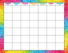 Colorful Brush Strokes Wipe-Off® Calendar–Monthly