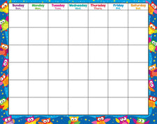 Owl-Stars!® Wipe-Off® Calendar–Monthly