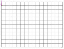 Graphing Grid (Small Squares) Wipe-Off® Charts