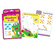 Wipe Off Activity Cards, Numbers 1-31