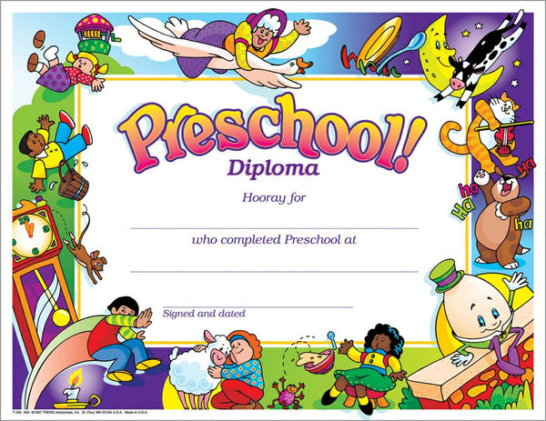 trend enterprises preschool diploma pk