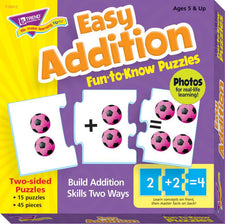 Easy Addition Fun-to-Know® Puzzles