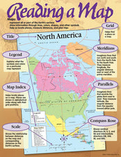 Reading a Map Learning Chart