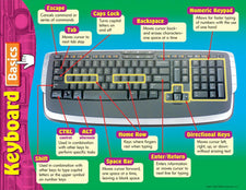 Computer Keyboard Basics Learning Chart
