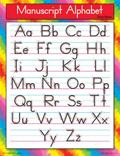 Manuscript Alphabet (Zaner-Bloser) Learning Chart