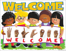 Sign Language Welcome (TREND Kids) Learning Chart