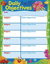 Daily Objectives Sea Buddies™ Learning Chart