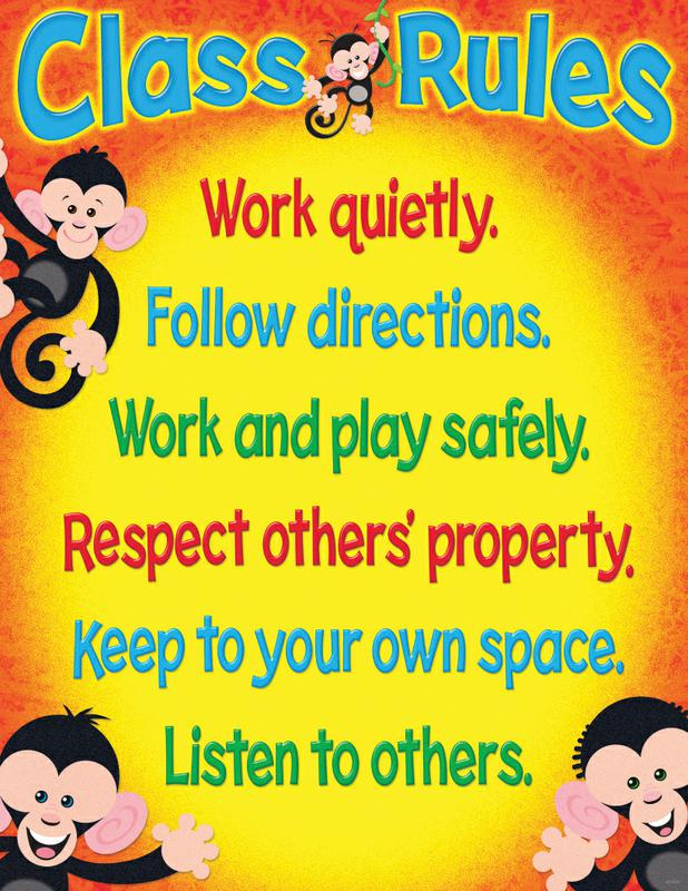 Class Rules (Monkey Mischief®) Learning Chart
