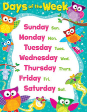 Days of the Week (Owl-Stars!®) Learning Chart