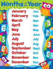 Months of the Year (Owl-Stars!®) Learning Chart