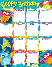 Happy Birthday (Owl-Stars!®) Learning Chart