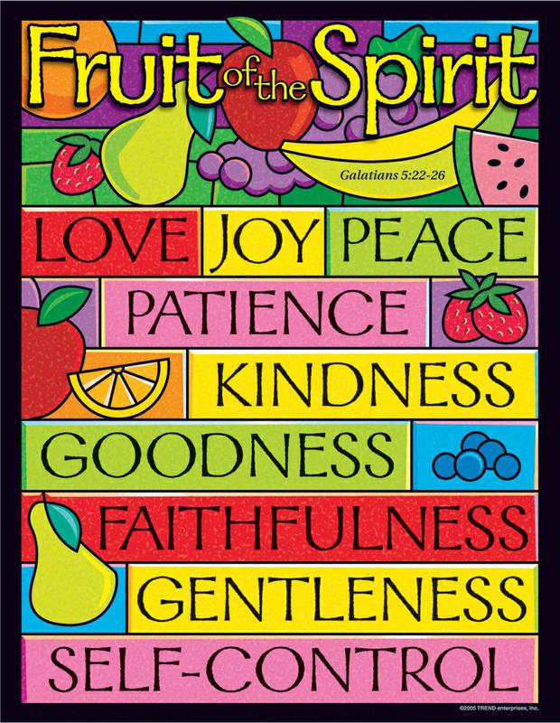 Fruit of the Spirit Learning Chart