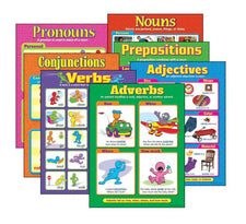 Seven Parts of Speech Learning Charts Combo Pack