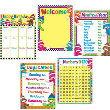 Classroom Basics (Sock Monkeys) Learning Charts Combo Pack
