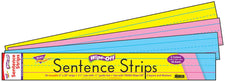 24-Inch Multicolor Pack Wipe-Off® Sentence Strips
