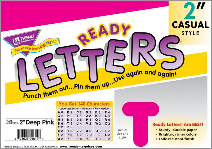 Deep Pink 2-Inch Casual Uppercase Ready Letters®