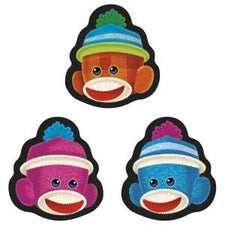 Sock Monkeys Smiles superShapes Stickers