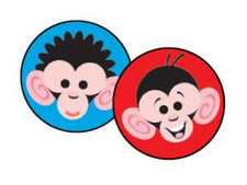 Monkey Mayhem superSpots® Stickers
