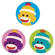Sock Monkeys superSpots® Stickers