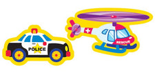 Rescue Vehicles superShapes Stickers–Large