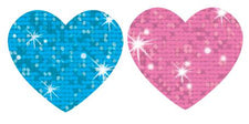 Sparkle Hearts superSpots® Stickers–Sparkle