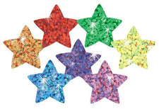 Colorful Stars superSpots® Stickers–Sparkle