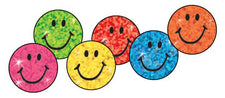 Colorful Smiles superSpots® Stickers–Sparkle