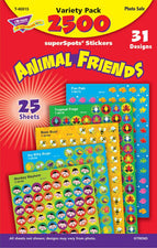 Animal Friends superSpots® Stickers Variety Pack
