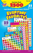 Everyday Favorites superSpots® & superShapes Stickers Variety Pack