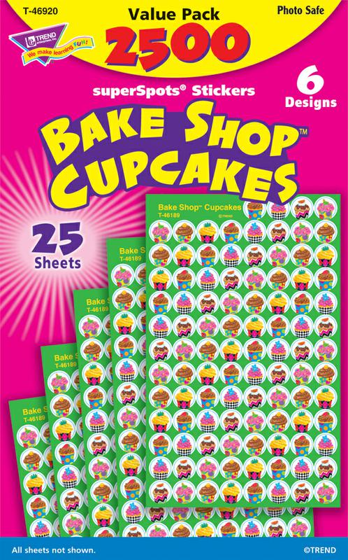 Cupcakes (The Bake Shop™) superSpots® Stickers Value Pack