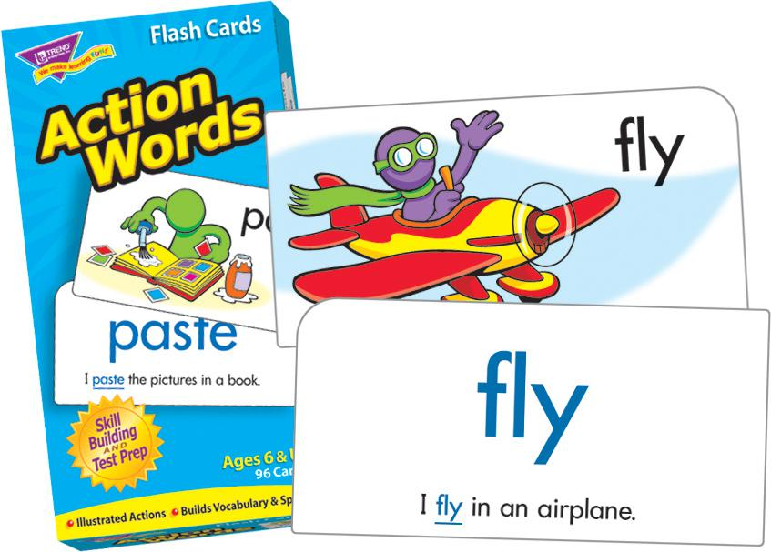 Action Words Skill Drill Flash Cards