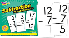 Subtraction 0-12 (All Facts) Skill Drill Flash Cards