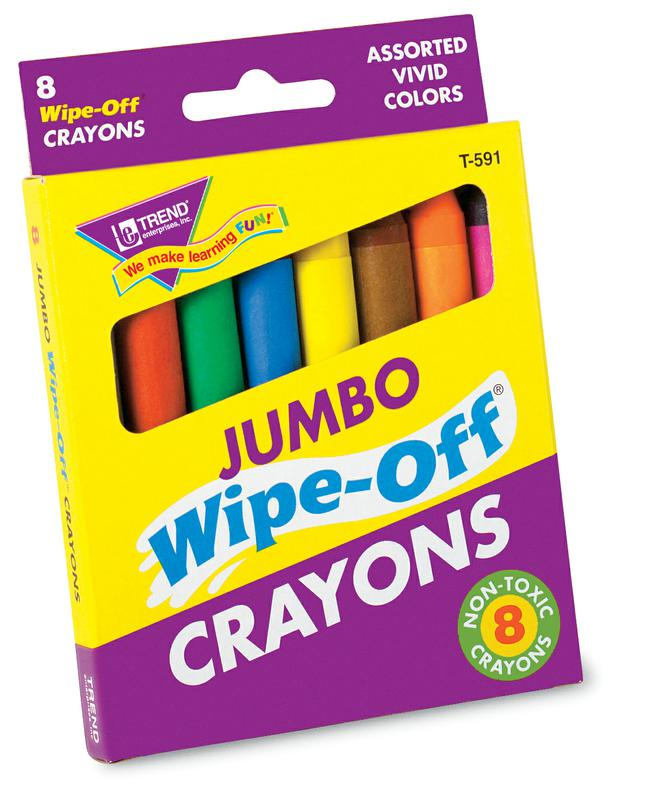 8-Pack Jumbo Wipe-Off® Crayons