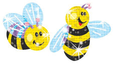 Buzzing Bumblebees Sparkle Stickers®