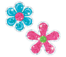 Flower Power Sparkle Stickers®–Large