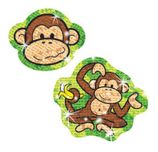 Lively Monkeys Sparkle Stickers®–Large