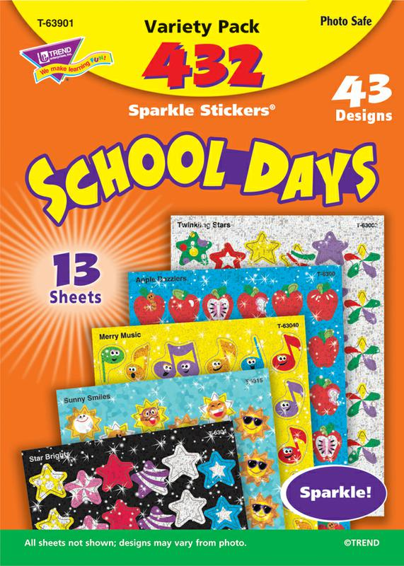 School Days Sparkle Stickers® Variety Pack
