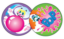 Blowing Bubbles/Bubblegum Stinky Stickers®–Large Round