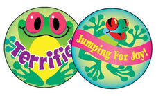 Frolicking Frogs/Pineapple Stinky Stickers®–Large Round