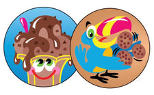 Lots of Chocolate/Chocolate Stinky Stickers®–Large Round